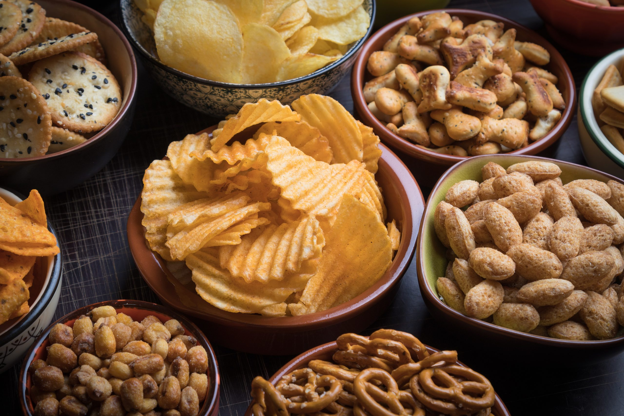 salty foods that contribute to dry mouths