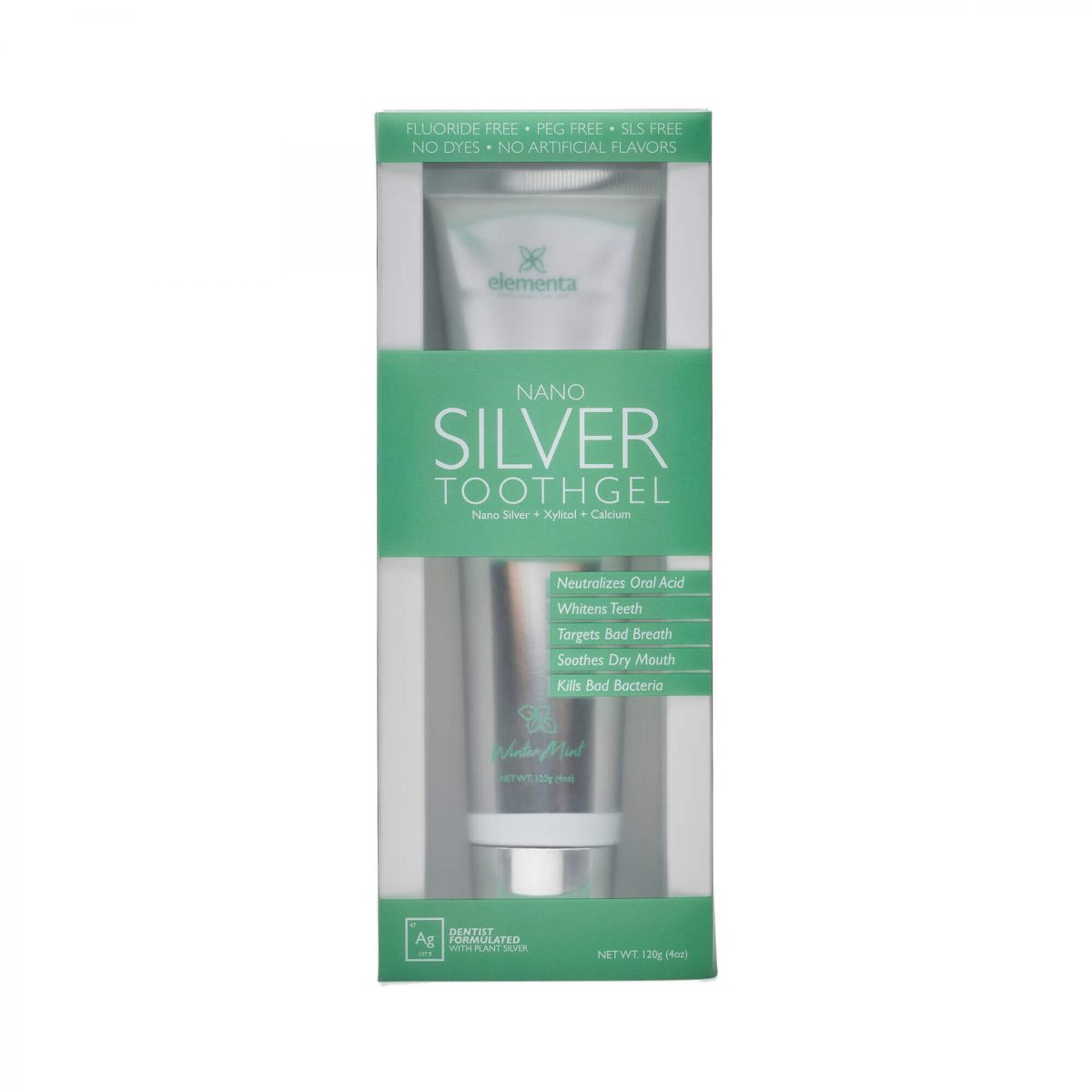 Nano Silver Tooth Gels Wintermint front of box