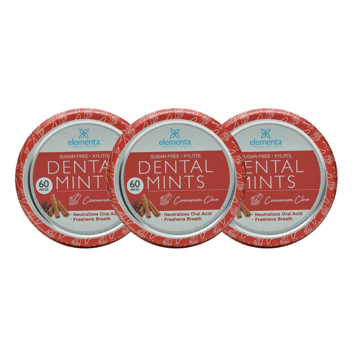 nano silver dental mints cinnamon clove 3 pack