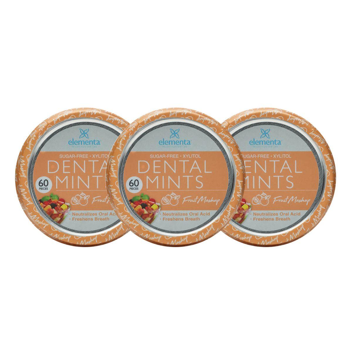nano silver dental mints fruit mashup 3 pack