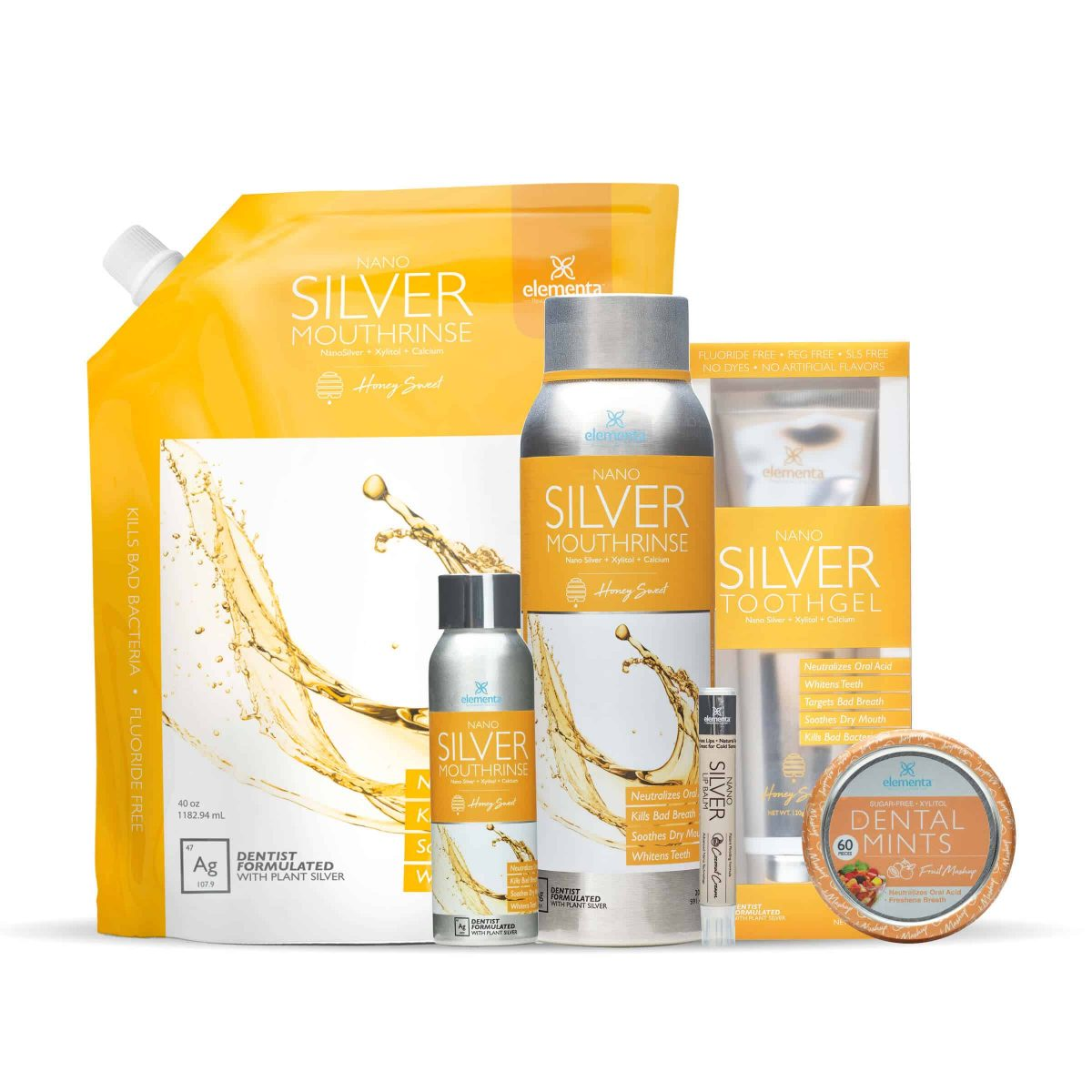 nano silver mouth rinse full routine honey sweet fruit mashup bundle