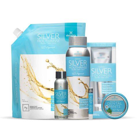 nano silver mouth rinse full routine peppermint bundle