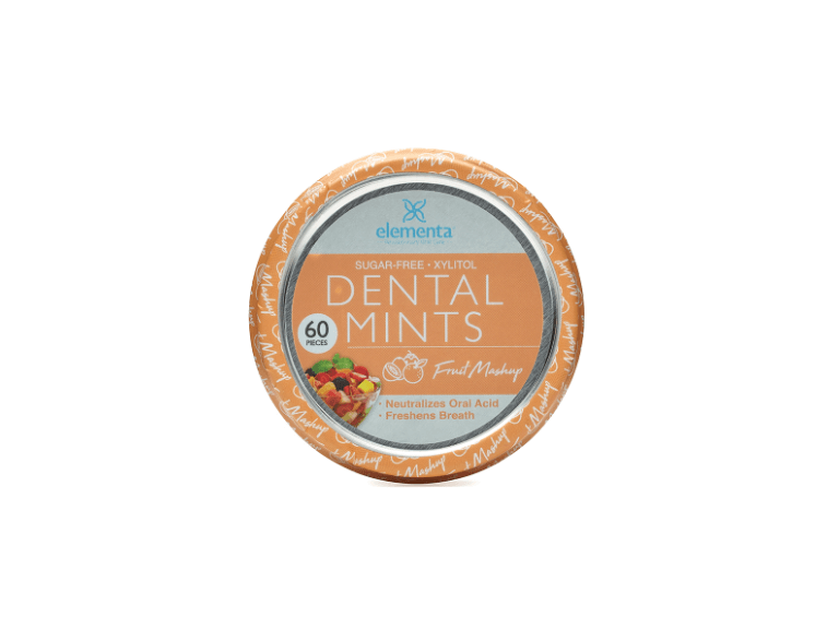 image of sugar free dental mints in fruit mashup flavor with xylitol