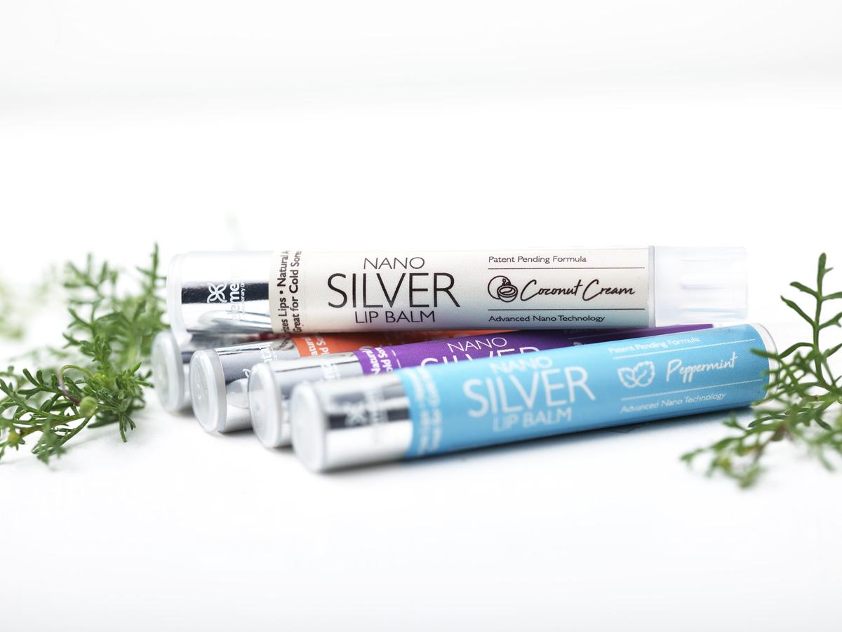 Nano Silver Lip Balms Coconut Cream 4 Pack