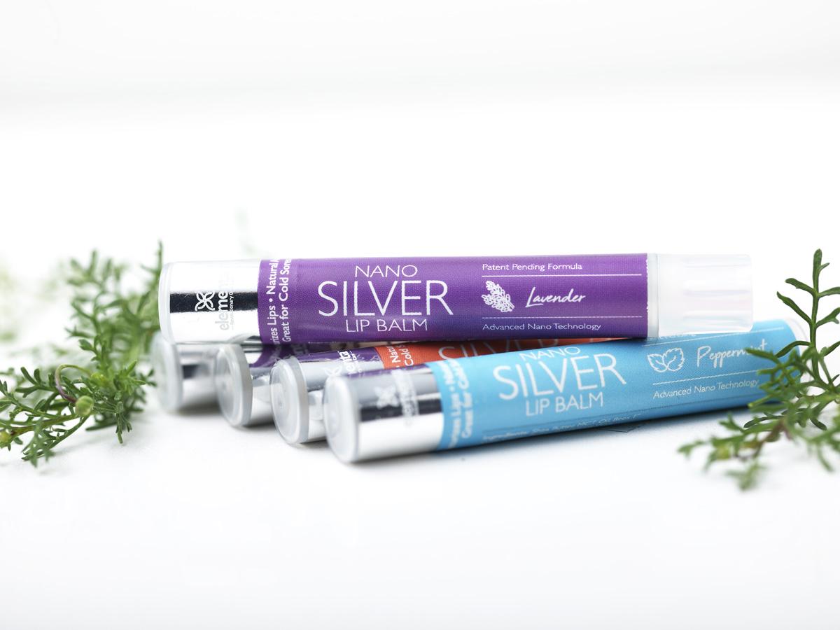 Nano Silver Lip Balms Lavender 4 Pack