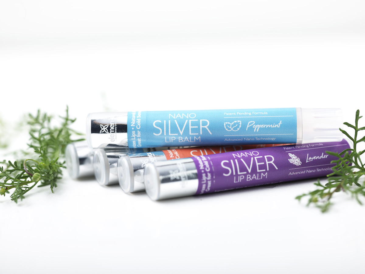 Nano Silver Lip Balms Peppermint 4 Pack