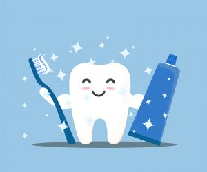 happy tooth to promote protecting against cavities